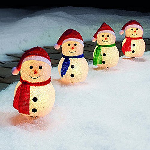 Snowman Pathway Lights