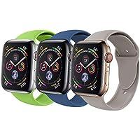 Correa de repuesto Vati, compatible con Apple Watch Band 1.654in 1.496in, correa de silicona suave, compatible con iWatch Apple Watch serie 3, serie 2, serie 1, S/M M/L