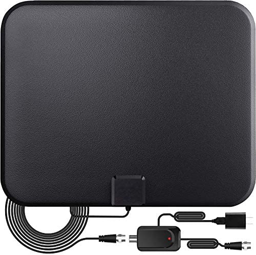 TV Antenna,Digital Indoor HD TV Antenna with Amplifier Signal Booster Up to 200 Mile Range- Support 4K 1080P Fire television Stick and All TVs-17ft Coax HD TV Cable/AC Adapter