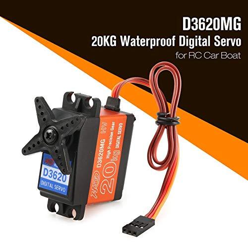sahnah HDKJ D3620MG 20KG 180/°Waterproof Metal Steering Digital Metal Gear Core Servo with High Torque for/RC Car Boat