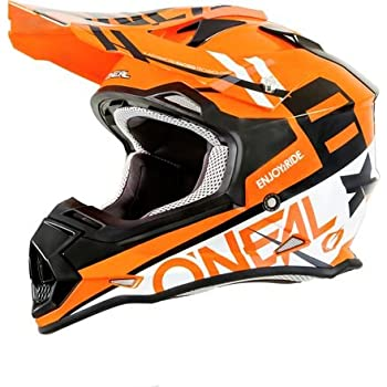 ONeal 2SERIES Mens Off-Road SPYDE Helmet (Orange/White, Small)
