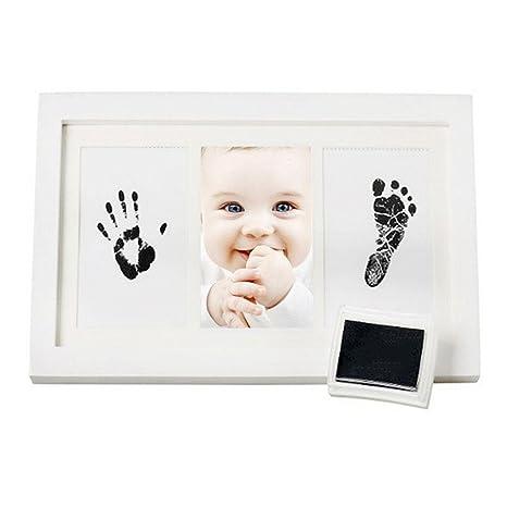 AOLVO bebé Handprint Kit Huella marco, recién nacido bebé marco de ...
