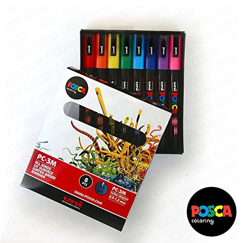 POSCA Colouring - PC-3M Essential Colours Set of 8 - In Gift ()