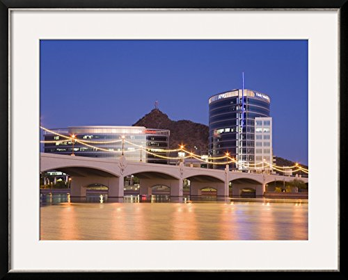 Art.com Town Lake and Mill Avenue Bridge, Tempe, Greater Phoenix Area, Arizona by Richard Cummins Framed Photographic Print, 25 x 31
