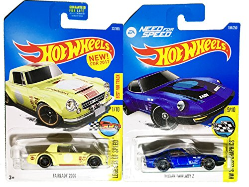 Hot Wheels 2016 EA Need for Speed Nissan Fairlady Z #184 & 2017 (New Casting) Fairlady 2000 #22 2-Car St