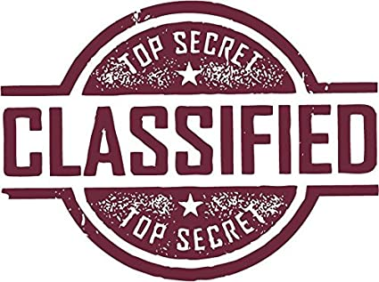 Amazon Classified Top Secret Confidential Grunge Stamp Sticker