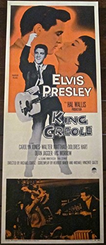 REDUCED200 KING CREOLE '58 INSERT PRESLEY CLASSIC RARE SIZE ~ GREAT ARTWORK
