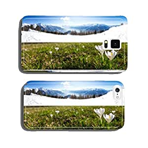 four seasons collage in nature and mountains cell phone cover case iPhone6 Plus