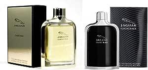 Set Of 2 Pieces Classic Gold by Jaguar for Men Eau de Toilette 100ml With Classic Black by Jaguar for Men Eau de Toilette 100ml