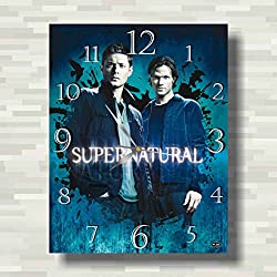 Supernatural 15'' x 11'' Handmade unique Wall Clock - Get unique décor for home or office – Best gift ideas for kids, friends, parents