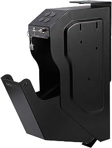 BAGKOOL Gun Safe,Handgun Safe Box Mounted Firearm Safety Device Pistol Gun Safe Box (Digital Code & Key)