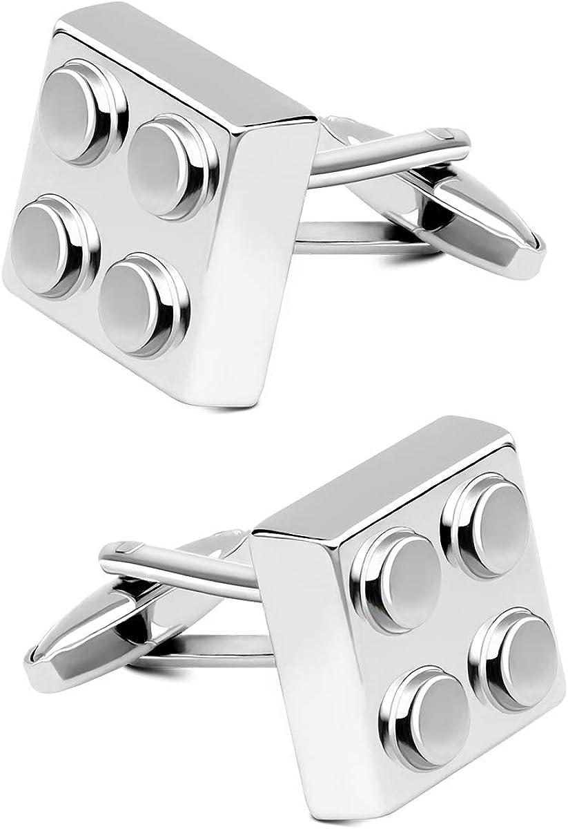 NEW Best Man Cufflinks Silver Men Steel Shirt Cuff Links Wedding Party Gift