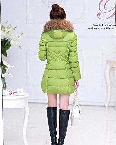 Spessore Piumino Caldo Inverno Cappotto Donna Verde Cappuccio con ZongSen qpREwW1W