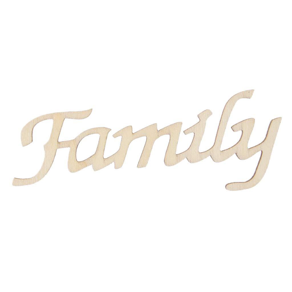 Lamdoo Cartas de la Familia de Madera Signo Colgante Tatuajes de ...