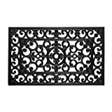 DII Indoor Outdoor Rubber Easy Clean Entry Way Welcome Doormat, Floor Mat, Rug