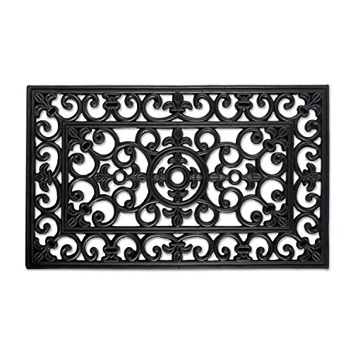 DII Modern Indoor/Outdoor Easy Clean Rubber Entry Way Doormat For Patio, Front Door, All Weather Exterior Doors, 18 x 30