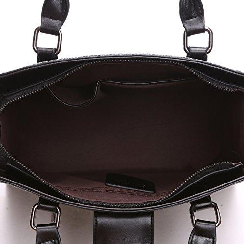Grain Genuine Handbag Crocodile Bag Ladies Black KAXIDY Blue Leather Handbags Shoulder Women Handle Top qtRnYtH0wp