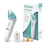 Baby Nasal Aspirator Battery Operated for Newborn/Toddlers-Life Basis Nose Cleaner with 3 Operation Levels-Safe Hygienic Snot Sucker Nostril Cleaner LCD Screen and Music Function(3 Size of Nose Cups)