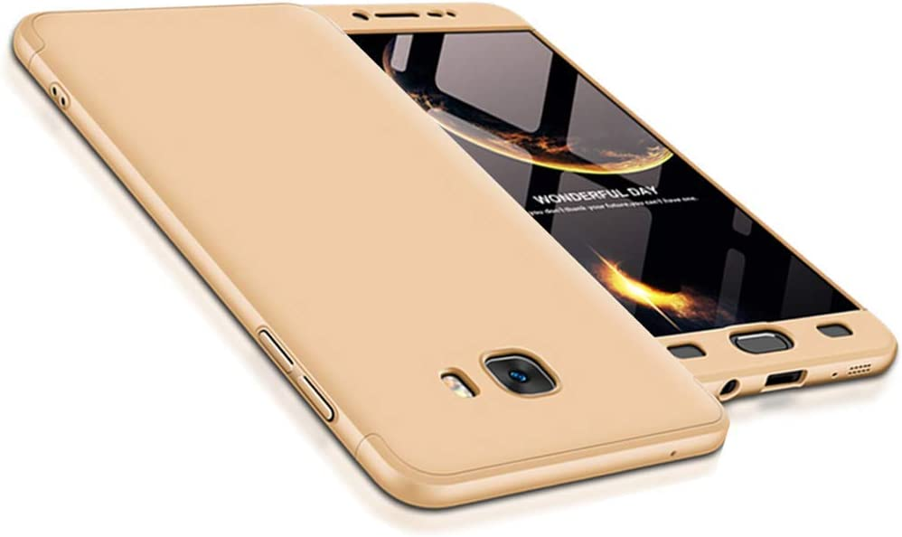 LUCKY Phone Móvil para Samsung Galaxy C9 Pro Cover Case , Samsung Galaxy C9 Pro 3 en 1 Funda paragolpes Anti de Schock PC Carcasa Protectora rígida , 360 Grados Ultra Fina Funda: Amazon.es: Electrónica