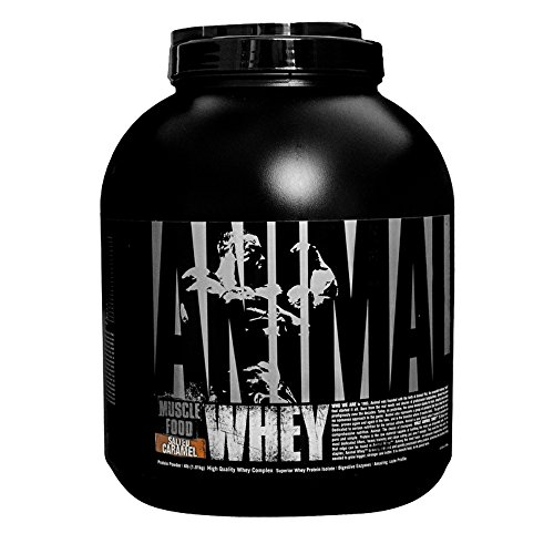 Universal Nutrition Animal Whey Isolate Loaded Whey Protein Powder Supplement, Salted Caramel, 4 Pound