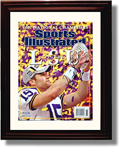 Framed Les Miles 2007 LSU Tigers National Champs Commemorative Sports Illustrated Autograph Replica Print