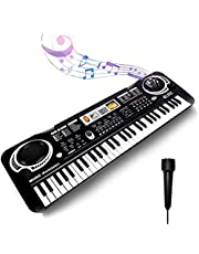 $36 » Keyboard Piano Kids 61 Key Electronic Digital Piano Musical Instrument Kit with Microphone Music Home Teaching Christmas Gift Toys for Boy Girls -01