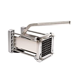 [Upgraded Version]French Fry Cutter, Sopito Potato Chipper Cutter Homemade Stainless Steel with 1/2-Inch Blade for Vegetables Like Sweet Potatoes, Cucumber, Carrot and More