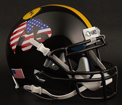 Schutt Iowa Hawkeyes NCAA XP Authentic Mini Football Helmet Flag Stars/Stripes (Star Football Mini)