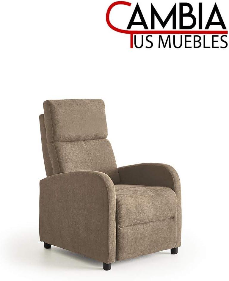Nexus butaca Relax, sillón reclinable Manual, Color Marrón