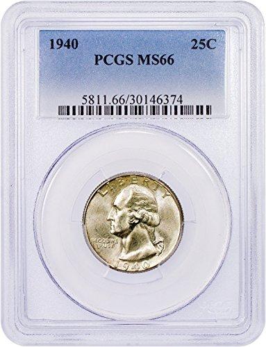 1940 P Washington Quarter Quarter MS66 PCGS