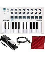 Arturia MiniLab MK II - Controlador USB MIDI portátil universal de 25 teclas delgadas con paquete de accesorios