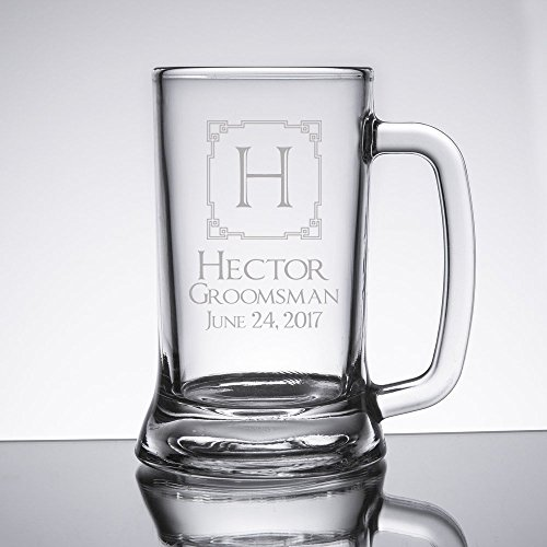 Personalized 16 oz Beer Mug Glasses (Set of 11) by TheCuttingEtchLLC