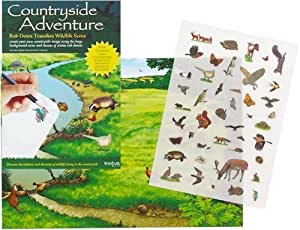 Countryside Adventure - Rub Down Transfers Wildlife Scene by Westair
