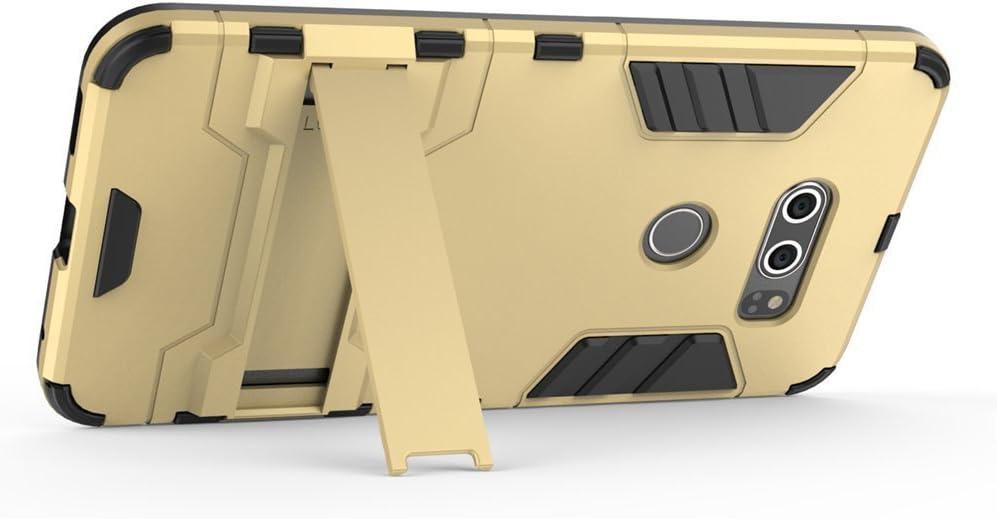 6 Pulgadas MaiJin Funda para LG V30 // LG V30 Plus Gris 2 en 1 H/íbrida Rugged Armor Case Choque Absorci/ón Protecci/ón Dual Layer Bumper Carcasa con Pata de Cabra