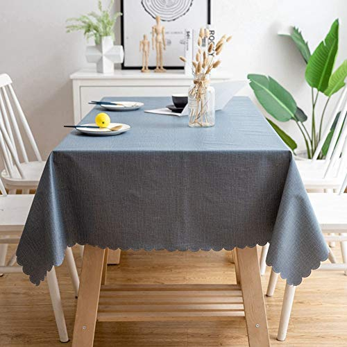Tablecloth, Table Cover PVC Vinyl Tarpaulin Sky Blue Tablecloth PVC Waterproof Plastic Can Wipe Off Splashing Tablecloth Suitable For Dining Table, Coffee Table GAOFENG