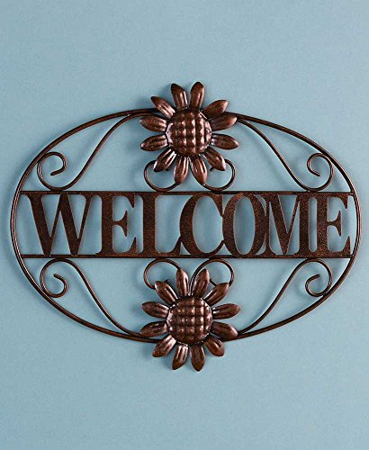 The Lakeside Collection Indoor/Outdoor Metal Wall Plaque- Welcome