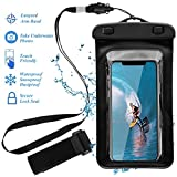 Universal Phone Waterproof Case, IPX8 Waterproof Cellphone Pouch Dry Bag Compatible with iPhone X/8/8Plus/7/7Plus/6s/6/6s Plus Samsung Galaxy S9/S9 Plus/S8/S8 Plus Google Pixel Sony up to 6.0″ (Black) Review