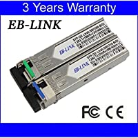 EB-LINK 1 Pair Cisco Compatible GLC-BX-U40 GLC-BX-D40 1.25G 1310/1550nm 40KM BIDI WDM SFP Transceiver Module