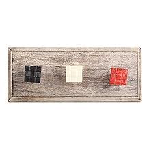 Red Popular Square Metal Wooden Wall Hooks Coat Key Cloth Hanging Hanger WHK-1122-MK-150