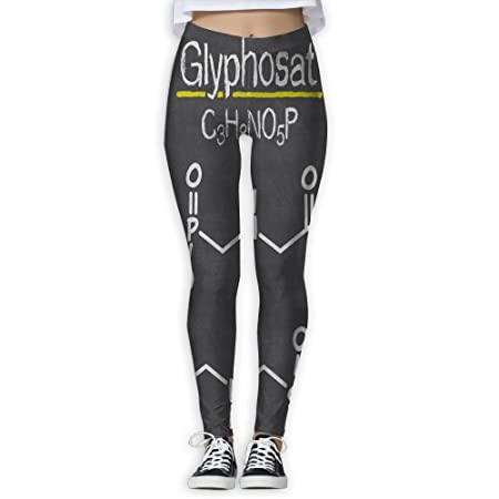 dbca57c6b1415 Amazon.com: Women's Girl Chalkboard Chemical Formula High Waist Casual Leggings  Tights Yoga Pants Running Pants Stretchy Sport Pilates Workout Long ...