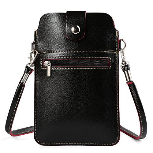 Women's PU Leather Crossbody Bag Cellphone Pouch Purse Wallet for Samsung Galaxy Note FE / S8+ / S8 / S7 Edge / Motorola Moto G5s Plus / G5 Plus / Z2 Play / OnePlus One 5 / 3T (Black)