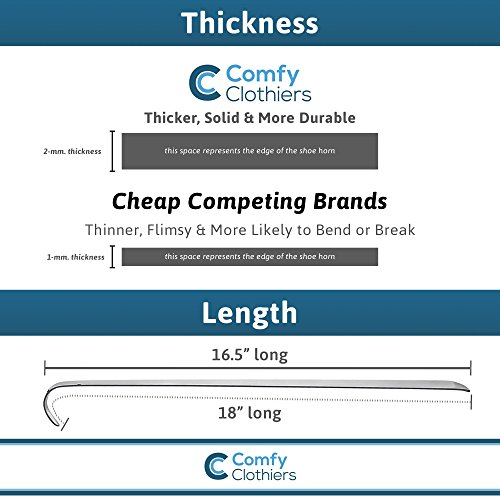 Comfy Clothiers 18-Inch Long Stainless Steel Shoe Horn by Comfy Clothiers (Image #2)