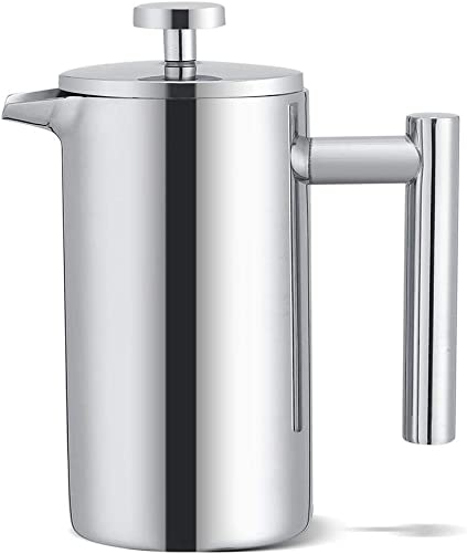 French Press Coffee Maker,Stainless Steel Double Walled 12 oz Espresso Maker Press Tea Pot