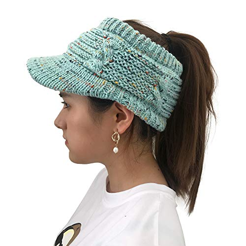 Women Twist Peaked Cap Knit Wool Hat Hollow Out Multicolor Point Caps by Teresamoon