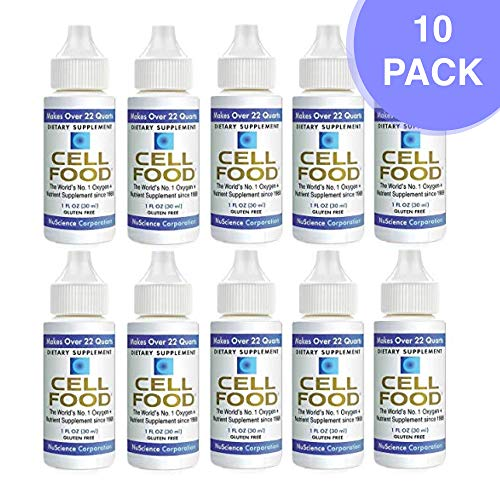 Cellfood Liquid Concentrate, 1 oz. Bottle (Pack of 10)- Original Oxygenating Formula Containing Seaweed Sourced Minerals, Enzymes, Amino Acids, Electrolytes, Superior Absorption- Gluten Free, GMO Free