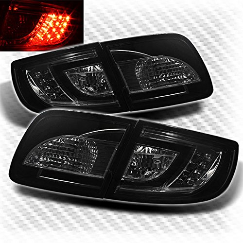 Smoked 2004-2009 Mazda 3 Sedan 4 Door LED Tail Lights Rear Brake Smoke Lamp Pair Left+Right 2005 2006 2007 (4 Door Sedan Models)