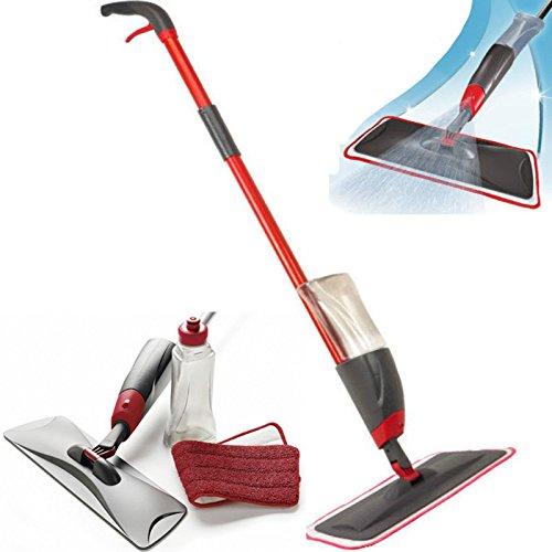 15 opinioni per Scopa Spray Mop set lava pavimenti con panno lavabile in microfibra e vaschetta