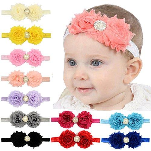 Baby Girls Headbands Flowers Soft Hair Band Headwear Hair Accessory