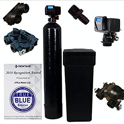 """Iron Pro 48K Combination Water Softener & Iron Filter with Fleck 5600SXT Digital Metered Valve - Treat Whole House up to (3/4"""" Bypass 48,000 Grains, Black)"""