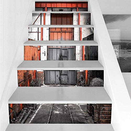 Stair Stickers Wall Stickers,6 PCS Self-adhesive,Industrial,
